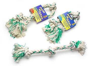 Aspen Pet Fresh N' Floss 2 Knot Bone Medium White