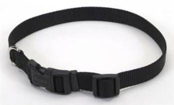 Coastal Adjustable Nylon Collar With Tuff Buckle Black 1x20in