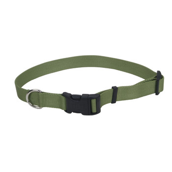 Coastal Adjustable Nylon Collar With Tuff Buckle Palm Green 5/8x14in