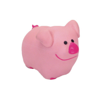 Coastal Rascals Latex Toy Pig 2.75in