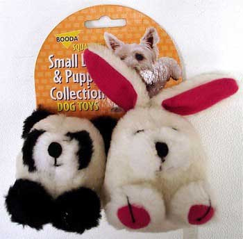 Aspen Pet Booda Puppy & Small Dog Two Pack Squatter Panda/rabbit