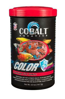 Cobalt Color Premium Flakes Fish Food 5oz