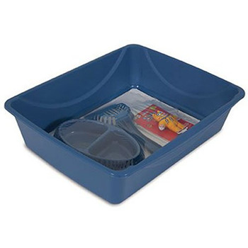 The Petmate reg; Litter Starter Kit makes life easier for both pet and pet parent. This starter kit is the perfect way to welcome a new cat or kitten to your home. Features an improved shape and updated pan design that makes it extra sturdy because of its