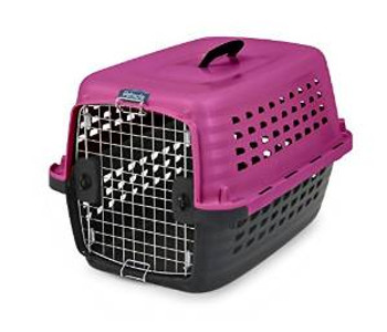 Petmate Compass Fashion Kennel Pink 24in