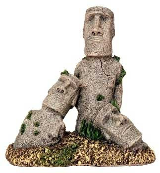 Blue Ribbon Exotic Environments Easter Island Statues 6.5x3.5x7.5in