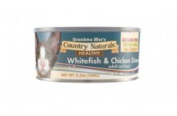 Grandma Mae's Grain Free Non-gmo Cat Food In Gravy White Fish & Chicken 5.5oz