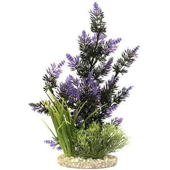 Blue Ribbon Colorburst Florals Gravel Base Pacifica Plant Black And Purple 14in