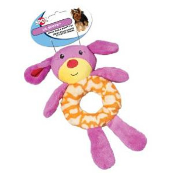 Ethical Lil Spots Plush Ring Toys Assorted 7.5in