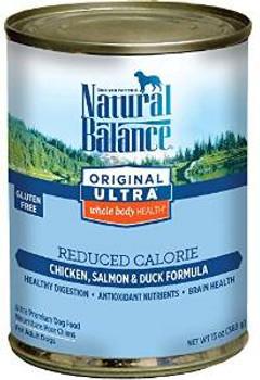Natural Balance Reduced Calorie Dog Formula 12/13 Oz.
