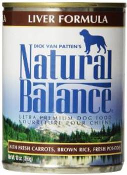 Natural Balance Liver & Rice Can Dog Formula 12/13 Oz.