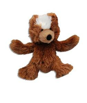 Kong Unstuffed Teddy Bear With Squeaker X-small