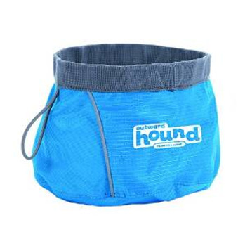 Kyjen Outward Hound Port-a-bowl Medium Blue