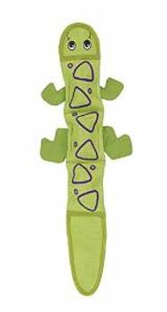 Kyjen Outward Hound Fire Biterz Lizard 3 Squeaker Green