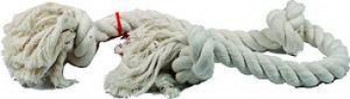 Mammoth Pet Products 100% Cotton White 3 Knot Rope Tug X-large 36in