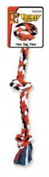 Mammoth Pet Products Cottonblend Color 3 Knot Rope Tug Small 15in