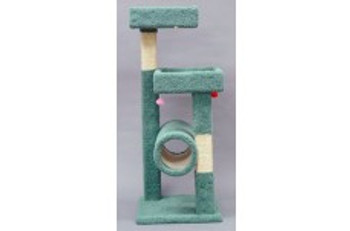 North American Pet Kitty Tree W/ Tunnel And Shelves 54in