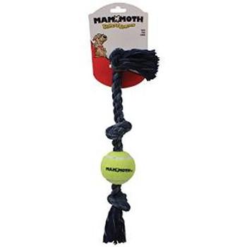 "Mammoth 3 Knot Denim Rope Tug W/mini Ball 11"""