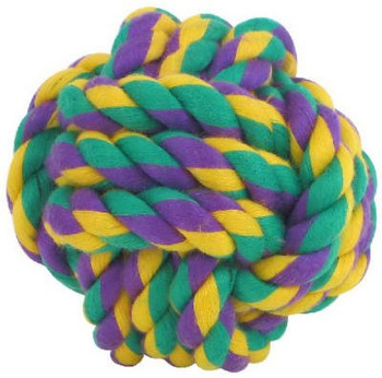 Nuts for Knots 3.5 inch - interwoven cotton toy for dogs.