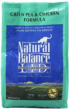 Natural Balance Limited Ingredient Green Pea And Chicken Dry Cat Formula 6/2 Lb.