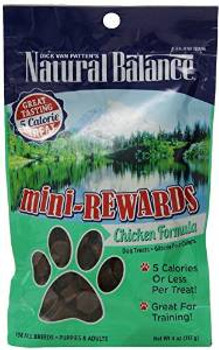 Natural Balance Mini-rewards Chicken Formula Semi-moist Dog Treat 12/4 Oz.