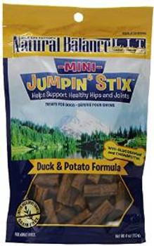 Natural Balance Lit Mini Jumpin' Stix Duck Formula With Glucosamine And Chondroitin Semi-moist Dog Dog Food 12/4 Oz.