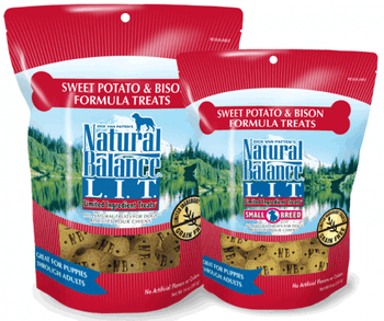 Natural Balance L.I.T. Limited Ingredient Treats are treats designed for dogs with sensitivities to common ingredients. Limiting the number of ingredients offers a unique alternative for dogs with special dietary needs. Scientifically formulated to provi