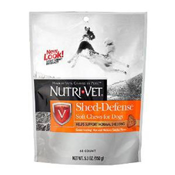 Nutri-vet Shed Defense Soft Chews Natural Smoke Flavor 5.35oz