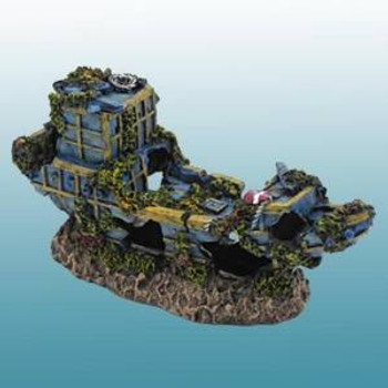 Penn-plax Pirate Treasure Ship Small