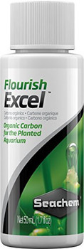 Flourish Excelƒ?› is a source of bioavailable organic carbon. All plants require a source of carbon. This is typically obtained from CO<sub>2</sub>, but, may also be derived from simple organic compounds (such as photosynthetic intermediates). The use of either CO<sub>2</sub> injection or Flourish Excelƒ?› does not necessarily negate the use of the other. Because the processes of producing photosynthetic intermediates and building onto them occur simultaneously, one can derive a substantial benefit with the use of Flourish Excelƒ?› either alone or in conjunction with CO<sub>2</sub>. The combination is particularly ideal for situations when continuing to add CO<sub>2</sub> could result in dangerously low pH levels. Flourish Excelƒ?› also has iron reducing properties which promote the ferrous state of iron (Fe<sup>+2</sup>), which is more easily utilized by plants than ferric iron (Fe<sup>+3</sup>).