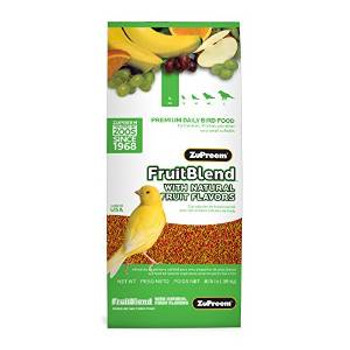 Zupreem Fruit Blend Flavor Premium Bird Food Extra Small Canary/finch 14 Oz. Pouch