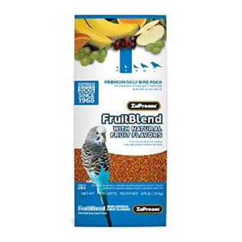 Zupreem Fruit Blend Flavor Premium Bird Food Small Parakeet 14 Oz. Pouch