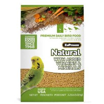 Zupreem Natural Small Bird 2.25 Lb. Pouch