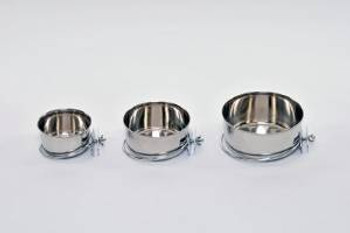 Prevue Pet Products Stainless Steel Coop Cup With Bolt-on 10oz