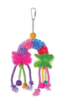Prevue Pet Products Calypso Creations provide your bird with plenty of ways to satisfy plucking and preening urges. Easily connected to your bird cage with quick-link attachments and made from 100% safe, non-toxic materials and FD C colors Calypso Creatio