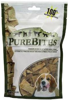 Purebites Beef/liver Freeze Dried Treats 4.2 Oz.