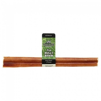 """Redbarn Straight Bully Sticks are natural beef muscles, slow roasted in their own natural juices. Highly palatable, this dog treat becomes chewy when wet, helps keep teeth clean and provides hours of long lasting enjoyment. 7 long bully sticks. Box o"""""""