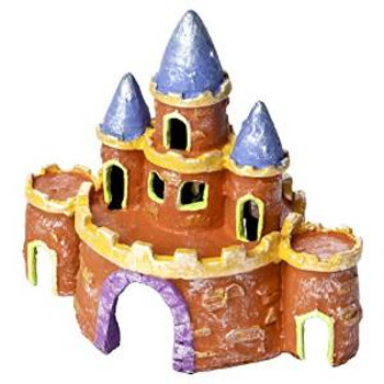 Tetra Glofish Small Castle Ornament