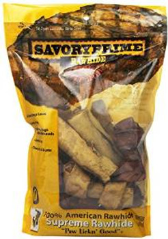 SavoryPrime American Rawhide Bone Assorted Flavor Value Pack Small