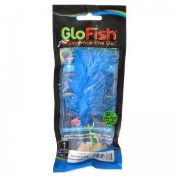 Tetra Glofish Plastic Plants Fluorescent Blue Medium