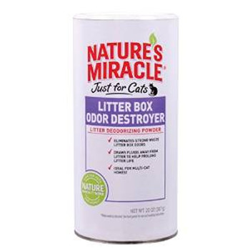 Nature's Miracle Just For Cats Litter Box Odor Destroyer Deodorizing Powder 20oz