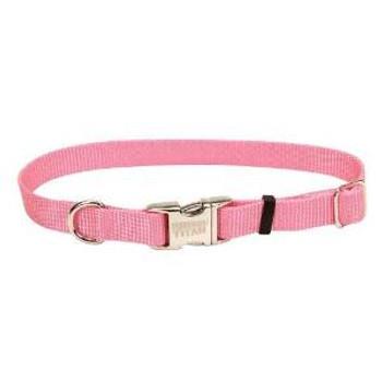 Coastal Adjustable Nylon Collar With Titan Metal Buckle Bright Pink 1x14-20in