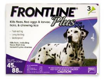 TRUE SCIENCEFrontline Plus Flea And Tick Treatment For Dogs 45-88 Pounds 3 Month Supply