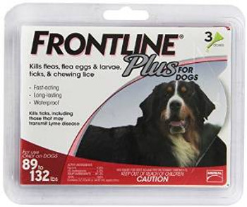 TRUE SCIENCEFrontline Plus Flea And Tick Treatment For Dogs 89+ Pounds 3 Month Supply