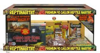 Zoo Med Repti-habitat 40 Gallons Bearded Dragon Starter Kit With Tank SD-X Free Store Pick Up - NO SHIPPING