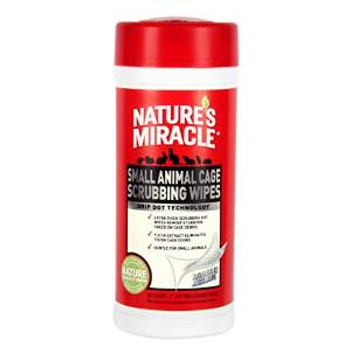 Nature's Miracle Small Animal Cage Scrubbing Wipes 30ct