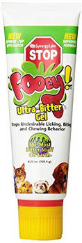 Tame Your Pet with Fooey Gel Fooey! Gel with Sponge Applicator is a great way to correct habits like harsh chewing and biting that your pet might be getting used to. The gel, when applied on any object, makes it extremely bitter for your pet to chew or bite. A completely safe formula for dogs, this gel is easy to apply as it comes with a sponge applicator. Fooey! Gel with Sponge Applicator Doesn't have an unpleasant odor Not air borne Has a neutral pH formula A Closer Look: Fooey! Gel with Sponge Applicator can restrain your pet from tampering with your furniture and other belongings. Made Specially for Dogs of all ages. Free of Alcohol