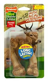 Nylabone Healthy Edibles Wild Venison Bone Medium 2ct