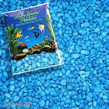World Wide Imports Pure Water Pebbles Premium Fresh Water Substrates Neon Blue 25lb