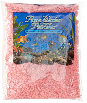 Pure Water Pebbles Premium Fresh Water Substrates: Neon Pink Characteristics of Pure Water Pebbles Premium Fresh Water Substrates: Natural Gravel. 100% Acrylic Coating. Will not alter the chemistry of your aquarium water. Non-toxic. Colorfast. Recommended Uses: Fresh & Saltwater Aquariums. Ponds. Terrariums. Gardens. Potted Plants. Vases. Ash Trays. Crafts & Hobbies.