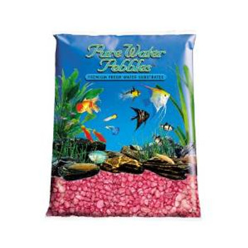 World Wide Imports Pure Water Pebbles Premium Fresh Water Substrates Red Frost 25lb